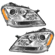 2008-11 Mercedes Benz ML Series Halogen Headlight PAIR