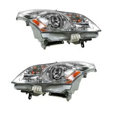2007-08 Infinti G35; 09 G37 Sedan w/o Technology Pkg HID Headlight w/Bulbs & Ballast PAIR