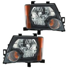 09-11 Nissan Xterra S, SE, Offroad Model Headlight PAIR