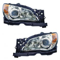 07 Subaru Impreza Halogen Headlight PAIR