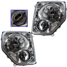 08-11 Jeep Liberty (w/o Integral Fog Light) Headlight PAIR