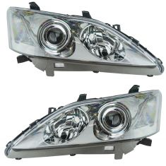 07-09 Lexus ES350 Halogen Headlight PAIR
