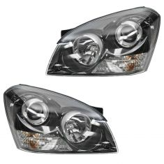 06 optima (5th Digit Vin E); 07 (thru 4/16/07) Optima w/Black Insert Headlight PAIR