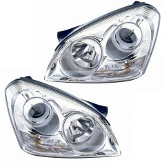 06 optima (5th Digit Vin E); 07 (thru 4/16/07) Optima w/Chrome Insert Headlight PAIR