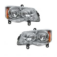 08-10 Chrysler Town & Country HID Headlight (w/o Bulbs & Ballast) PAIR