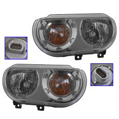 08-11 Dodge Challenger Halogen Headlight PAIR