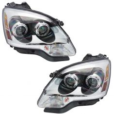 08-09 GMC Acadia w/Clear Lens; 10-12 Acadia Halogen Headlight PAIR