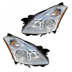10-12 Nissan Altima Sedan, Altima Hybrid Halogen Headlight PAIR