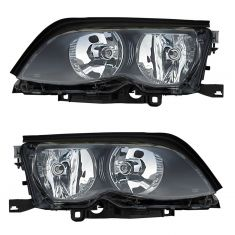 02-05 BMW 3 Series SDN & SW Halogen Headlight (w/o Chrome) PAIR
