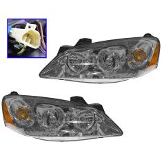 09-10 Pontiac G6 (w/Clear Turn Signal) Headlight PAIR