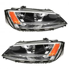 11 VW Jetta Sedan (exc City); 12 Jetta Sedan Halogen Headlight PAIR