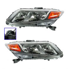 12 Honda Civic (exc Hybrid) Headlight PAIR