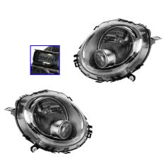 08-12 Mini Clubman; 07-08 Cooper Hard Top; 09-12 Cooper Halogen Headlight w/White Turn Signal PAIR