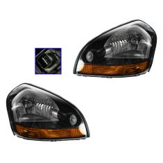 05-09 Hyundai Tucson (w/Amber Turn Signal) Headlight PAIR