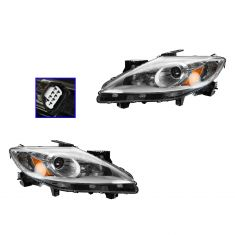 10-12 Mazda CX-9 Halogen Headlight PAIR