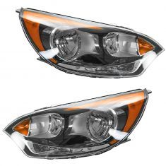 12-13 Kia Rio 5 Halogen Headlight PAIR