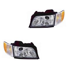 95-98 Audi A6 S6 Wagon Headlight PAIR