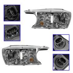 04-07 Buick Rainier Headlight PAIR