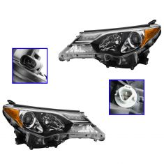 13 Toyota Rav 4 (Japan Built) w/Gas Engine Headlight PAIR