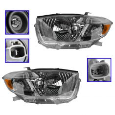 08-10 Toyota Highlander Sport (US Built) Headlight PAIR