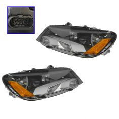 12-14 VW Passat Headlight Pair