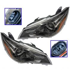 15-16 Toyota Camry (w/Black Trim) Halogen Headlight Pair