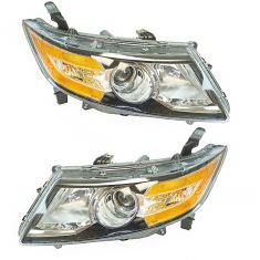 14-16 Honda Odyssey Halogen Headlight Pair