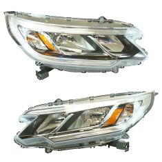 15-16 Honda CR-V (w/o LED Daytime Running Light & w/o Projector Beam) Halogen Headlight PAIR