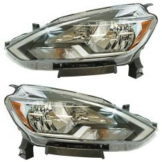 16-17 Nissan Sentra Halogen Headlight PAIR