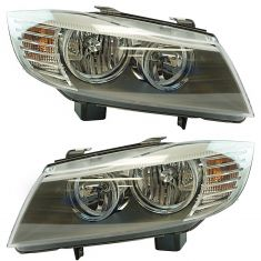 09-11 BMW 323i, 328i, 335i Sedan; 09-12 328i Wagon Halogen Headlight Pair