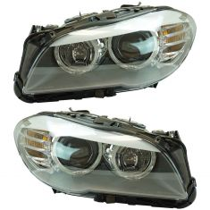 11-13 BMW 528; 535i; 12-13 ACTIVEHYBRID Halogen Headlight Pair