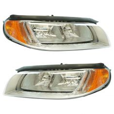 08-10 Volvo V70; 08-13 XC70; 07-13 S80 Halogen Headlight Pair