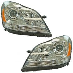 07-09 MB GL320; 10-12 GL350; 07-12 GL450; 08-12 GL500, GL550 Halogen Headlight Pair