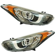 13-16 Hyundai Elantra GT Hatchback Projection Style Halogen Headlight LH RH Pair