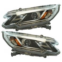 15-16 Honda CR-V (w/LED Daytime Running Light) Projector Beam Style Halogen Headlight Pair