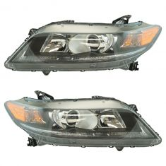 13-15 Honda Accord Coupe w/2.4L Headlight LH RH Pair