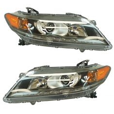 13-15 Honda Accord Coupe w/3.5L Headlight LH RH Pair