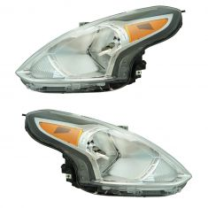 15-17 Nissan Versa Sedan Headlight LH RH Pair