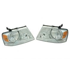 04-08 Ford F150 exc Harley Davidson Headlight Pair (simple performance)