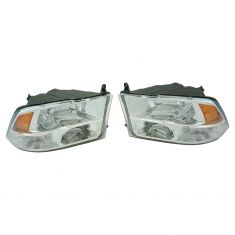 09-16 Ram Truck (w/ Quad Lights) Headlight Pair (simple performance)