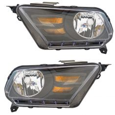10-12 Ford Mustang Halogen Headlight Pair (simple performance)