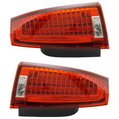 08-09 Cadillac CTS; 10-13 CTS Sedan; 14 CTS-V (w/Red Outer Lens) Taillight Assy Pair