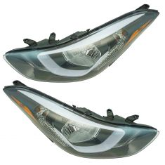 14-16 Hyundai Elantra Sedan US Built Headlight Pair  (w/o LED)