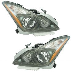 11-13 Infiniti G37 (exc Sedan); 14-16 Q60 Xenon HID Projector Headlight  (w/o Bulbs & Ballast) Pair