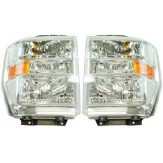 08-14 Ford E150, E250; 08-16 E350, E450, E550; 16-17 F650, F750 Composite Headlight Pair