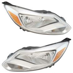 12-14 Ford Focus Headlight Chome Bezel Pair (Simple Performance)