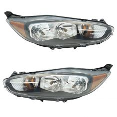 14-17 Ford Fiesta Headlight (w/ Black Trim) PAIR