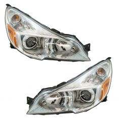 13-14 Subaru Legacy Outback Halogen Headlight (w/Chrome Bezel) Pair