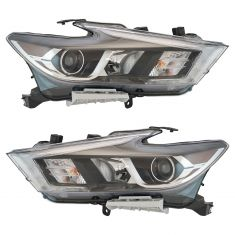 16-17 Nissan Maxima Halogen Headlight Assembly PAIR