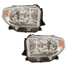 14-17 Toyota Tundra (w/Leveling Option & w/LED Daytime Running Light) Headlight Assembly PAIR